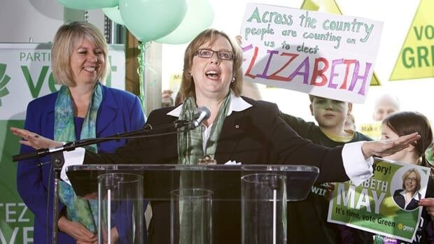 Green Party Leader Elizabeth May kicks off her national election campaign at Sea Cider Farm and Ciderhouse in Saanichton, near Victoria, last Saturday.
