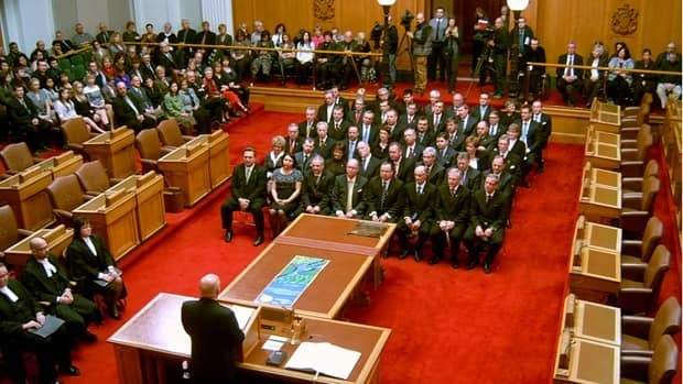 Saskatchewan Party MLAs are sworn in.