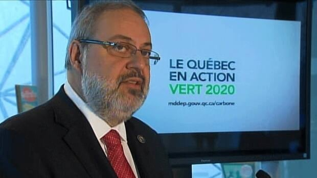 Environment Minister Pierre Arcand says Quebec will introduce a cap-and-trade system.