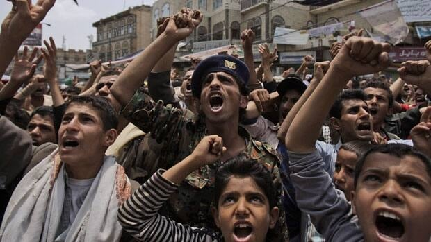 Protesters demand the resignation of Yemeni President Ali Abdullah Saleh. Several villages and anti-government tribes were bombed this week.