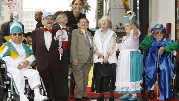 The Munchkins get their star on the Hollywood Walk of Fame on Nov. 20, 2007. The Munchkins from left: Clarence Swensen, a Munchkin soldier, Jerry Maren, part of the Lollipop Guild; Mickey Carroll, the Town Crier; Karl Slover, the Main Trumpeter; Ruth Duccini, a Munchkin villager; Margaret Pelligrini, the sleepyhead Munchkin and Meinhardt Raabe, the coroner.