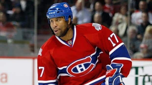 Georges Laraque last played in the NHL in 2010 with the Montreal Canadiens.