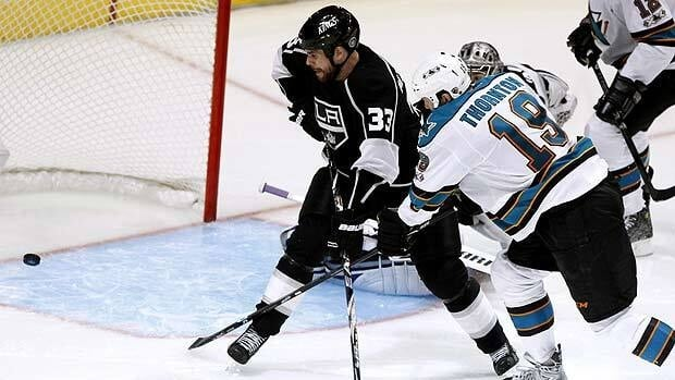 Joe Thornton ended the first round series between San Jose and Los Angeles, one of 14 overtime goals in the first two weeks of the playoffs.