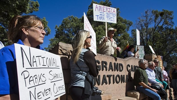 Just over 400 national parks, recreation areas and monuments, including the Grand Canyon, have been closed since Oct. 1 because of the partial U.S. government shutdown.