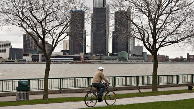 Residents of Windsor, Ont., shown here with a view of Detroit, Mich., in the background, are rattled by mysterious reverberations.