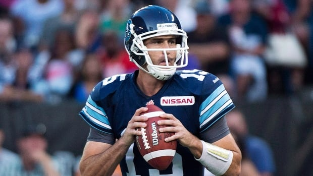 Toronto Argonauts quarterback Ricky Ray has been out since suffering a shoulder injury in a home loss to the Calgary Stampeders on Aug. 23.