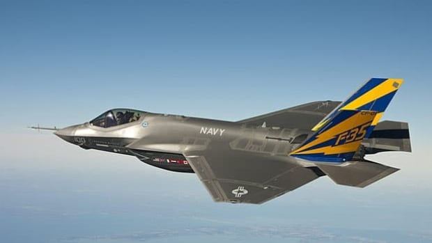 The U.S. Senate armed services committee held hearings Thursday into the costs of the the F-35 joint strike fighter, a variant of which is seen in this photo released by the U.S. Navy. Canada has an agreement to buy 65 F-35 jets.