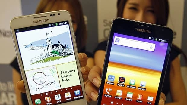 Galaxy phones and tablets running on Android helped make Samsung the world's largest smartphone seller. But now the company is pitching its own OS. (Lee Jin-Man/Associated Press)