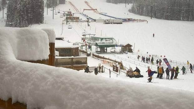 Lake Louise Ski Resort reported 21 centimetres of snow had fallen overnight Tuesday and 30 in the previous 24 hours, forcing the first training run for Saturday's downhill to be cancelled.