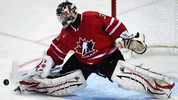 Niagara IceDogs goalie Mark Visentin is one of only three returnees from last year's Canadian squad that settled for a silver medal.