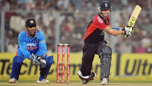 Kevin Pietersen of England bats during the Twenty20 International match between India and England on Oct. 29 in Kolkata, India. Should cricket find its way onto the Olympic menu, IOC president Jacques Rogge says he could see the Twenty20 version fitting best.