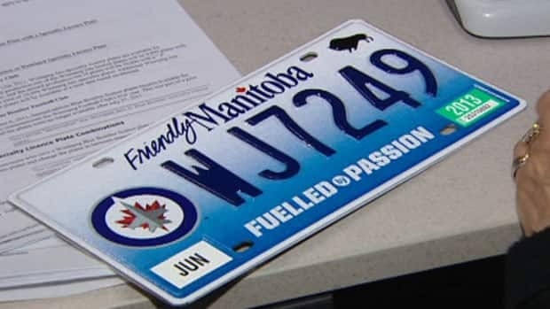 The Jets specialty licence plates are a hot item.