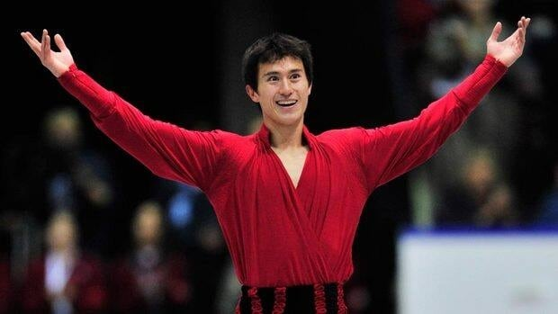 Toronto's Patrick Chan salutes the crowd after finishing his long program at the Skate Canada International event Saturday night in Mississauga, Ont.