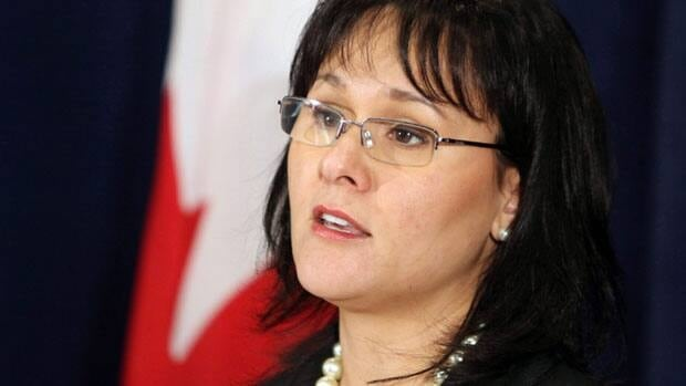 Health Minister Leona Aglukkaq holds a news conference in Ottawa on Jan. 18. Aglukkaq, who was re-elected as the Conservative MP for Nunavut in last week's federal election, will represent Canada at the Arctic Council's ministerial meeting on Thursday in Nuuk, Greenland.