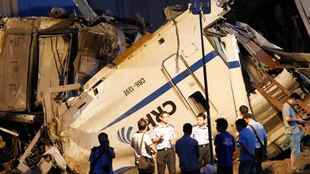 At least 35 people are known to have been killed in the collision of two bullet trains in Wenzhou, China, on Saturday.