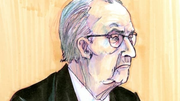 Noel Lavery, 83, shown in a court sketch, is accused of murdering his wife.