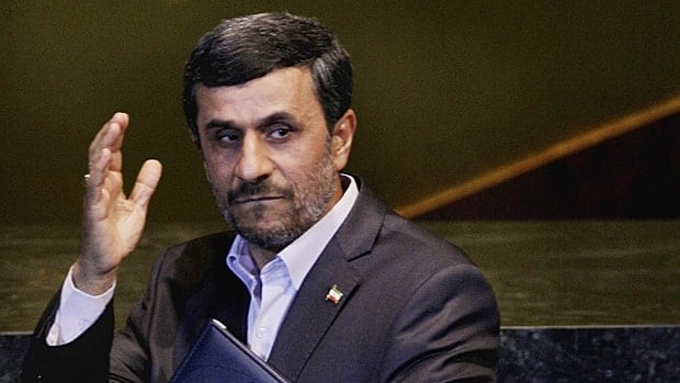 Iran's President Mahmoud Ahmadinejad waves after his address to the 66th session of the United Nations General Assembly at UN headquarters on Thursday.