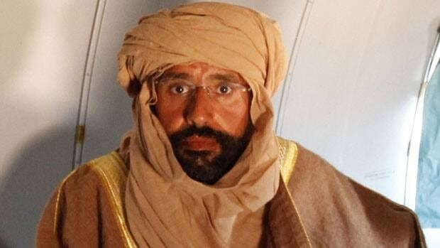 Seif al-Islam Gadhafi is seen sitting in a plane in Zintan after his capture on Nov. 19, 2011.