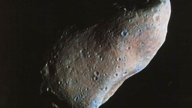 Like the asteroid 951 Gaspra pictured here, 2003 SD220 is a stony or 's-type' asteroid that is long and skinny as opposed to round.