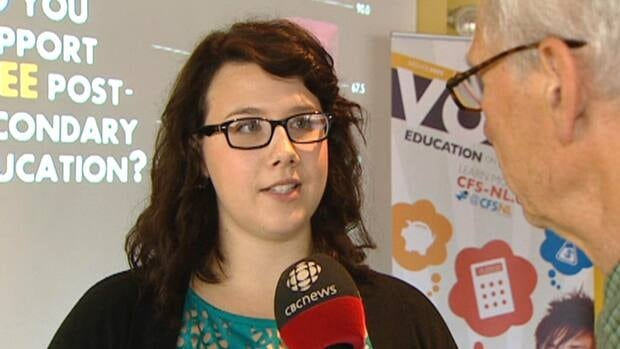 Newfoundland and Labrador CFS Chair Jessica McCormick says free post-secondary education will benefit the province as a whole.