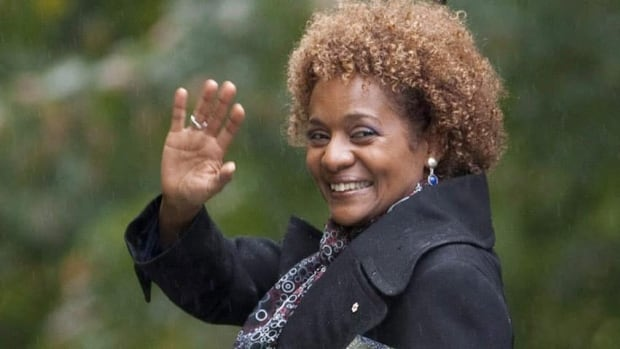 Michaelle Jean waves as she leaves her final official event as governor general at Rideau Hall in Ottawa, Sept. 30, 2010.