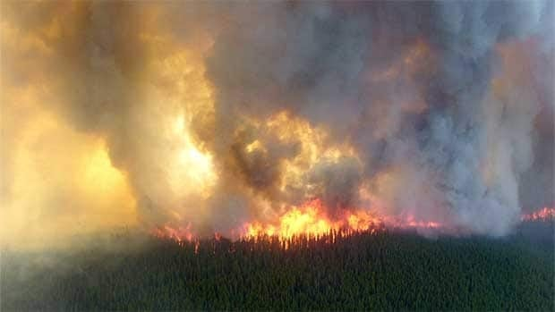 Gusting winds have pushed the Tisigar Lake forest fire in a northeast direction, moving it at a speed of three kilometres per hour. The blaze was 116 square kilometres in size as of Friday afternoon.