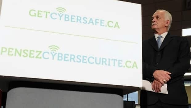 Minister of Public Safety Vic Toews lauched the 'Get Cybersafe' website for 'Cyber Security Awareness Month' in Ottawa on Monday.
