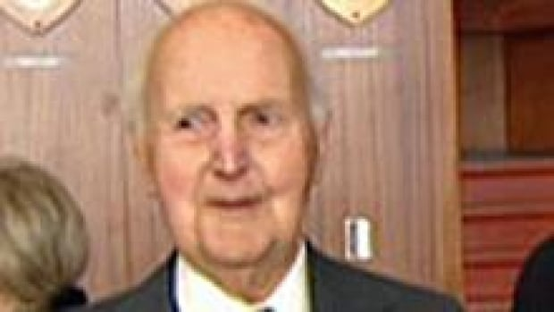 Dr. Nigel Rusted, 103, an early graduate of Memorial University College, during a ceremony in 2009. Rusted retired from surgery when he was 75 and from clinical practice five years later.