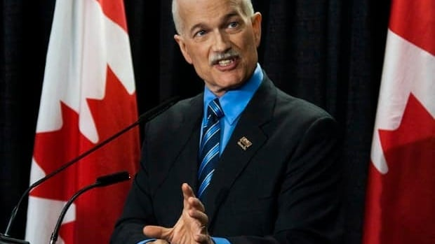 Federal NDP Leader Jack Layton addressed the Federation of Canadian Municipalities annual meeting in Halifax on June 4. (Andrew Vaughan/CP)