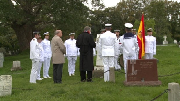 The Spanish have been coming to Newfoundland and Labrador for centuries. For whales, and for cod, but during the Thanksgiving weekend, a group gathered to remember 15 Spanish seamen who died in the 1918 S.S. Florizel tragedy.