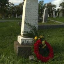 Florizel monument in Mount Carmel Cemetery