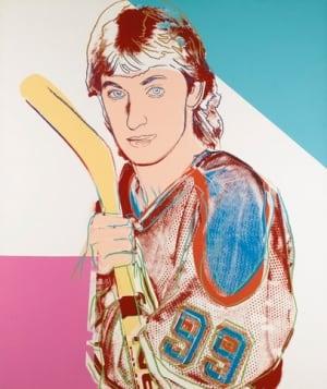 Andy Warhol Wayne Gretzky painting