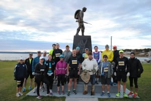 Runners from the 2013 Trapline Marathon in Labrador