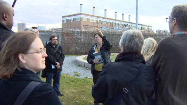 Ward 6 candidates are shown the Rossdale power plant in Edmonton's river valley in the hopes the election winner will champion the preservation of the building.