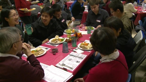 About 200 international students at Memorial University celebrated Thanksgiving at St. Augustine's Anglican church in St. John's.
