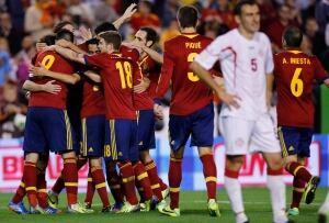 Spain Georgia WCup Soccer
