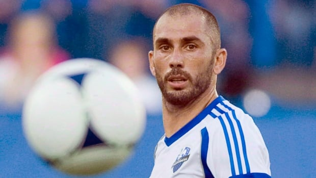 In his second Major League Soccer season, Montreal Impact designated player Marco Di Vaio leads the league in scoring with 19 goals.