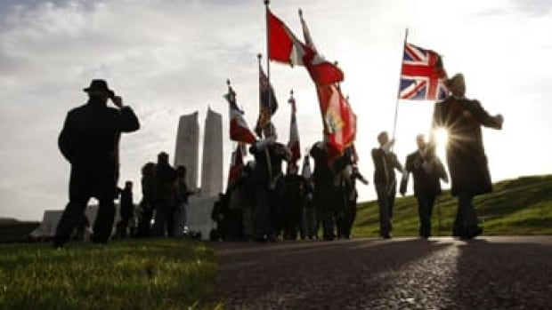 Alexander Gladu's name is inscribed in the Vimy Memorial in France, along with 11,000 other Canadian soldiers listed as 'missing, presumed dead.'  (Reuters)