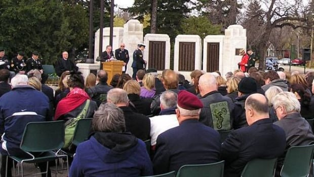 A ceremony marking the start of the First World War will take place Saskatchewan War Memorial on Monday.
