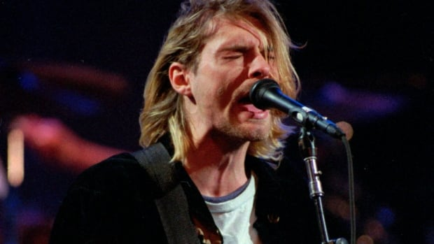 The late Kurt Cobain, lead singer for the Seattle-based band Nirvana, is seen performing in Seattle in Dec. 1993. Nirvana, Linda Ronstadt, Hall and Oates, Peter Gabriel and The Replacements are among the first-time nominees in the running for induction into the Rock and Roll Hall of Fame.