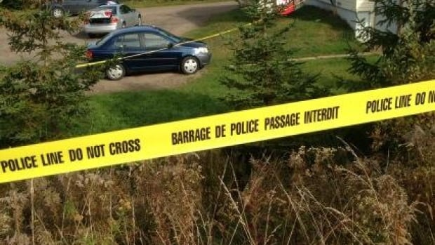RCMP cordoned off an apartment building in Truro Heights after a woman was found dead there in October. Her husband later took his life after telling police he had killed her.