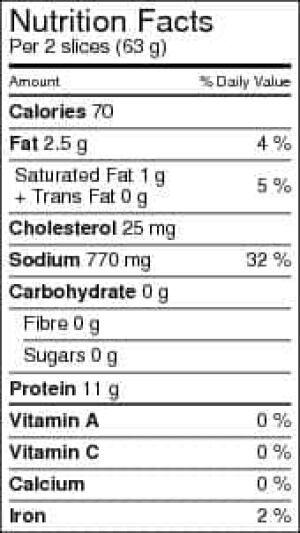 maple-leaf-ham-nutrition-la