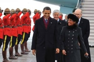 Michaelle Jean and Barack Obama
