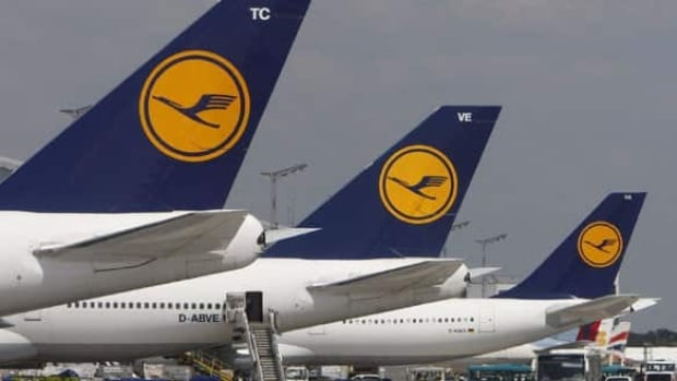 Lufthansa expects to cancel about 3,800 flights during a 3-day strike by its pilots. Nearly 900 flights were cancelled Wednesday.