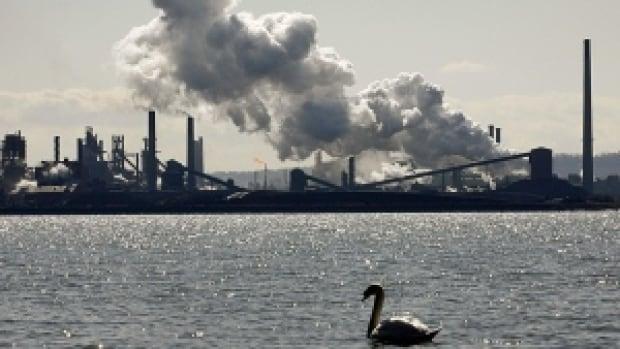 Hamilton's waterfront industrial skyline