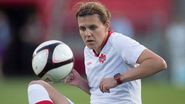 Star striker Christine Sinclair is one of the 13 who captured an Olympic bronze medal for Canada at the 2012 London Olympics. She will probably be on the roster for an Oct. 30 game against South Korea.