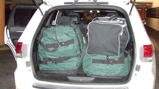 RCMP found duffel bags filled with pot in this SUV earlier in the week.