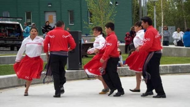 Metis dancers perform at National Aboriginal Day celebrations in Yellowknife in 2010.