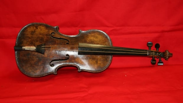 This violin is believed to be the one played by Wallace Hartley, the bandmaster of the orchestra aboard the Titanic that continued to play as the doomed ocean liner sank into the North Atlantic. The instrument will go up for auction in the U.K. this Saturday.