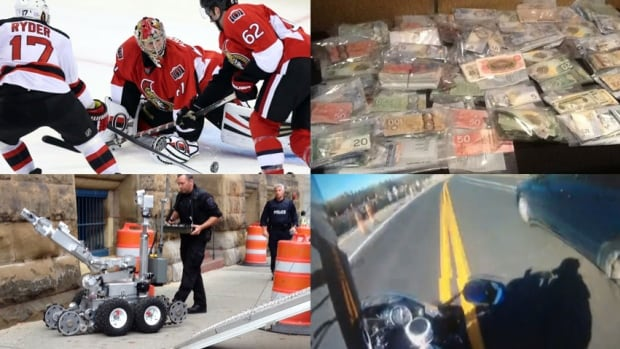 The Ottawa Senators, drug busts, speeding tickets and suspicious packages all figure into this week's Ottawa news quiz.